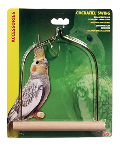 Picture of Living World Bird Swing with Wooden Perch for Cockatiels - 7""