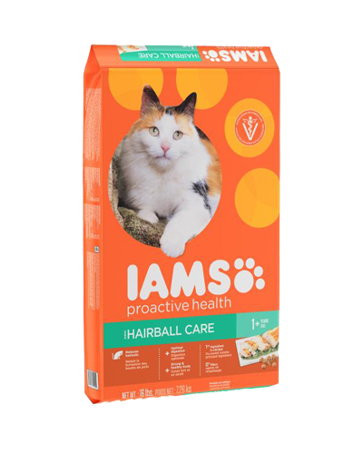 Picture of Iams ProActive Health Hairball Care with Chicken & Salmon - 7 lbs.