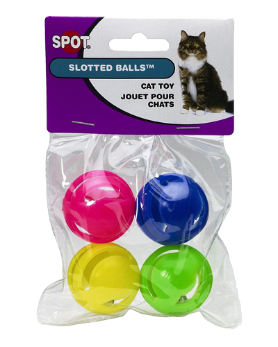 Picture of Ethical Spotnips Slotted Balls with Bells - 4 Pack Assorted Colors