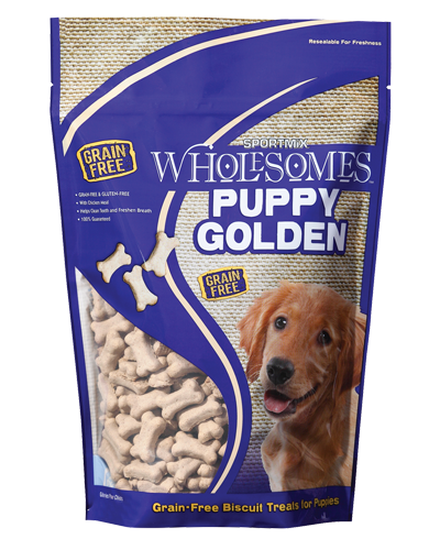 Picture of SPORTMiX Wholesomes Puppy Golden Biscuit Treats - 2 lb.