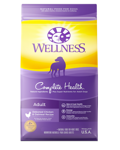 Picture of Wellness Complete Health Deboned Chicken & Oatmeal Recipe - 15 lbs.