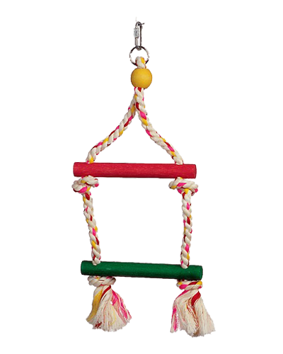 Picture of Living World Junglewood 2 Step Rope Ladder - 6""