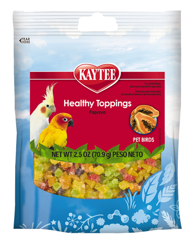 Picture of Kaytee Healthy Toppings Papaya Bird Treats - 2.5 oz