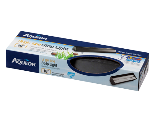 Picture of Aqueon Black T8 Fluorescent Strip Light - 16""