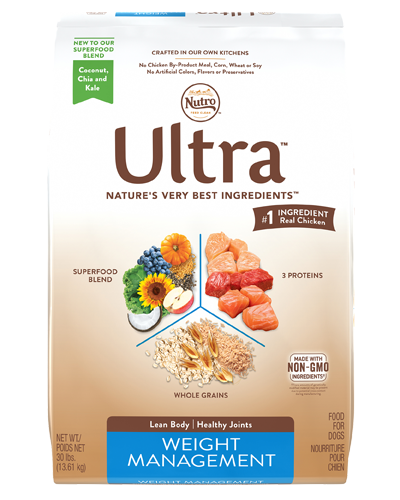 Picture of Nutro Ultra Weight Management Adult Protein Blend from Chicken, Lamb, & Salmon - 30 lbs.