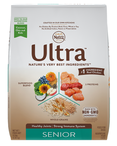 Picture of Nutro Ultra Senior Protein Blend from Chicken, Lamb, & Salmon - 15 lbs.