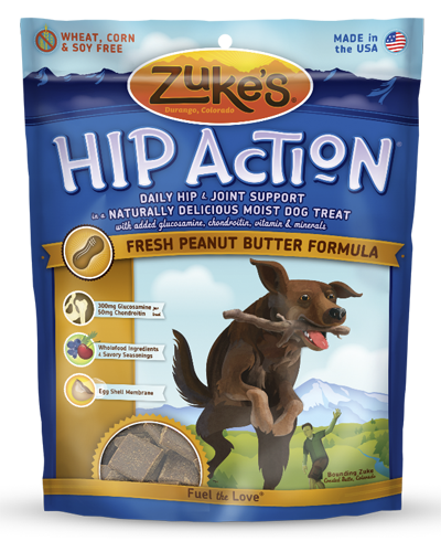 Picture of Zuke's Hip Action Natural Tender Peanut Butter and Oats Recipe Treats with Glucosamine and Chondroitin - 6 oz.