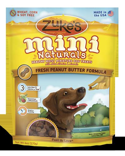 Picture of Zuke's Mini Naturals Peanut Butter & Oats Recipe - 6 oz.