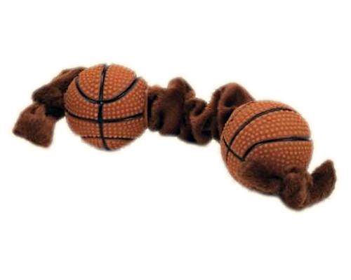 Picture of Coastal Pet Lil Pals Plush and Vinyl Basketball Tug - 8""