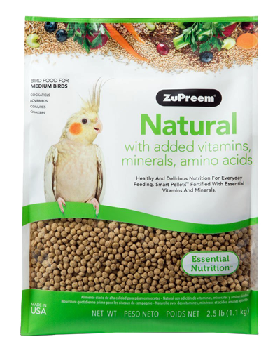 Picture of Zupreem natural for Medium Birds - 2.5 lb.