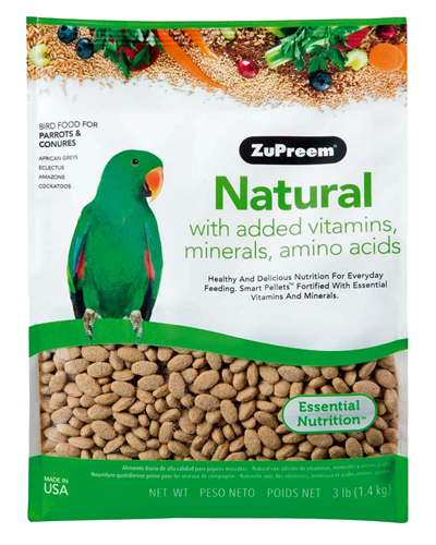 Picture of Zupreem Natural for Parrots & Conures - 3 lb.