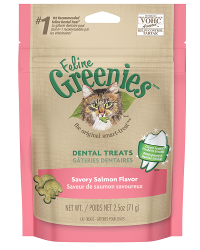 Picture of Feline Greenies Savory Salmon Flavor Dental Treats - 2.5 oz.