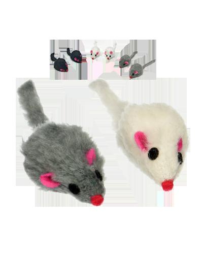 Picture of Penn Plax Purr Pet Fur Mouse Single - Assorted Colors