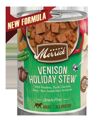 Picture of Merrick Classic Grain Free Venison Holiday Stew Recipe in Gravy - 13.2 oz.