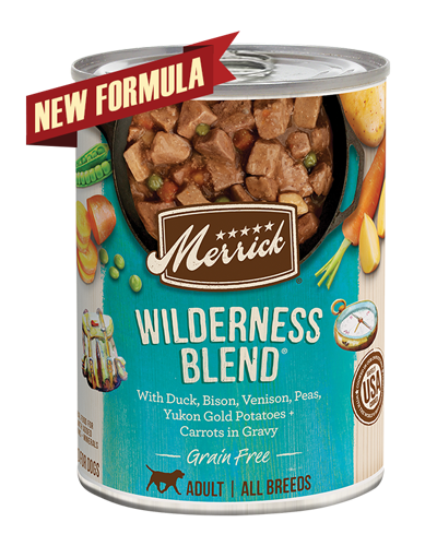 Picture of Merrick Classic Grain Free Wilderness Blend Recipe with Salmon and Venison - 13.2 oz.