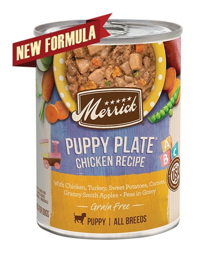 Picture of Merrick Classic Grain Free Puppy Plate Recipe with Turkey, Chicken, and Duck - 13.2 oz.