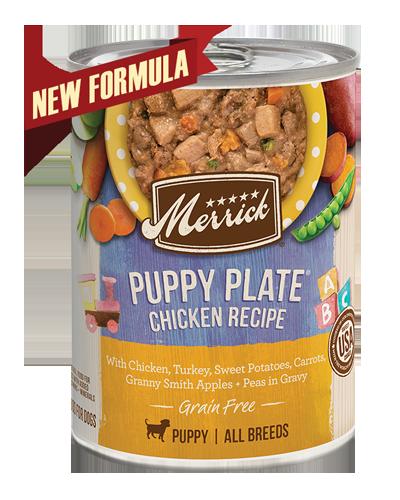 Picture of Merrick Classic Grain Free Puppy Plate Chicken Recipe in Gravy - 13.2 oz.