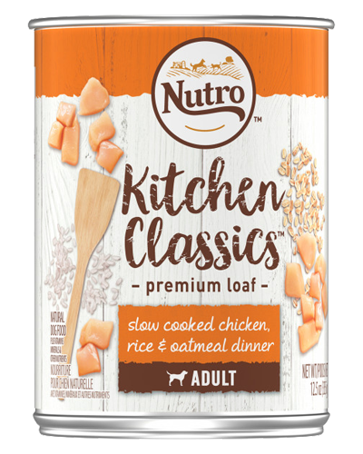 Picture of Nutro Kitchen Classics Adult Slow Cooked Chicken, Rice, & Oatmeal Dinner - 12.5 oz.