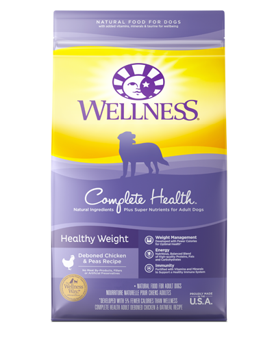 Picture of Wellness Complete Health Healthy Weight Adult Recipe with Deboned Chicken & Peas - 5 lbs.