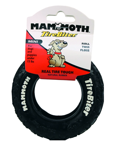 "Picture of Mammoth Pet 3.5"" TireBiter Rubber Toy Mini"