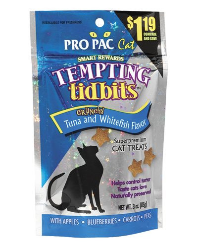 Picture of Pro Pac Tempting Tidbits Crunchy Tuna & Whitefish - 3 oz.