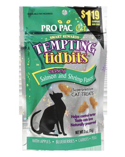 Picture of Pro Pac Tempting Tidbits Crunchy Salmon & Shrimp - 3 oz.