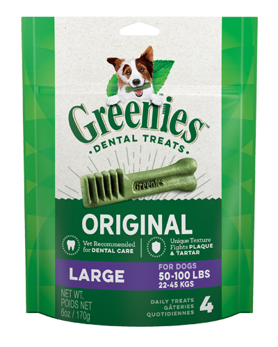 Picture of Greenies Original Large Dog Dental Treats - 6 oz.