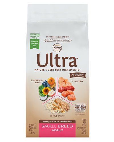 Picture of Nutro Ultra Small Breed Adult Protein Blend from Chicken, Lamb, & Salmon - 4 lbs.