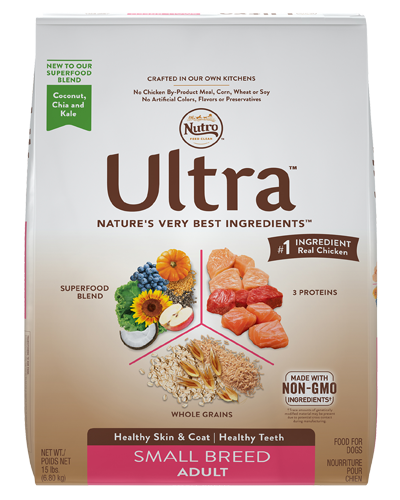 Picture of Nutro Ultra Small Breed Adult Protein Blend from Chicken, Lamb, & Salmon - 15 lbs.