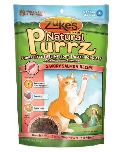 Picture of Zuke's Natural Purrz Purrfectly Sublime Soft Treats Savory Salmon Recipe - 3 oz.
