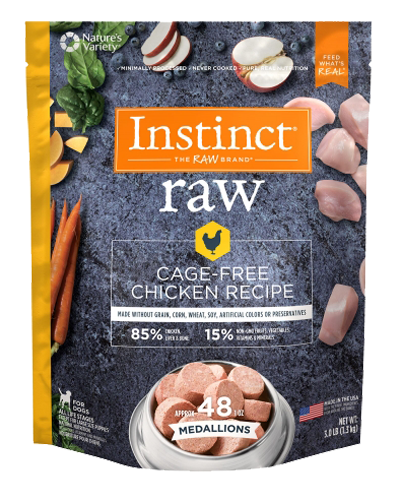 Picture of Nature's Variety Instinct Raw Frozen Medallions Natural Chicken - 3 lbs.