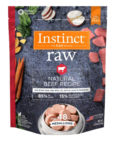 Picture of Nature's Variety Instinct Raw Frozen Medallions Natural Beef - 3 lbs.