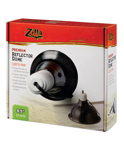 """Picture of Zilla Black Premium Reflector Dome Light and Heat Fixture - 8.5"""""""
