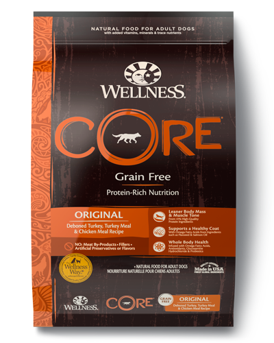 Picture of Wellness CORE Grain Free Original Recipe with Turkey, Turkey Meal, & Chicken Meal - 4 lbs.