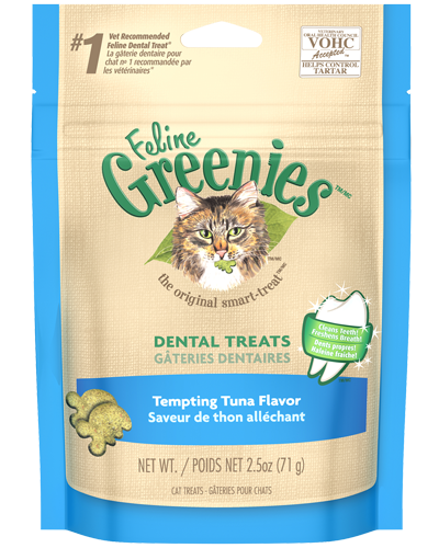 Picture of Feline Greenies Tempting Tuna Flavor Dental Treats - 2.5 oz.