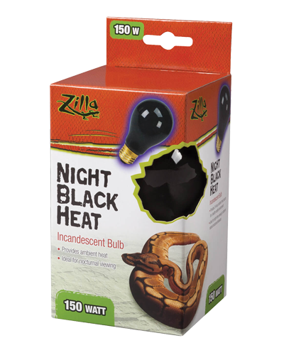 Picture of Zilla Night Black Heat Incandescent Bulb - 150 Watt