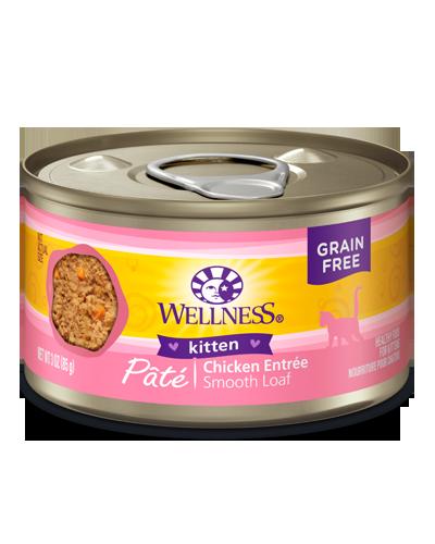 Picture of Wellness Grain Free Complete Health Kitten Pâté Chicken Recipe - 3 oz.