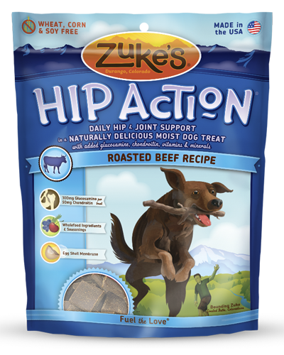 Picture of Zuke's Hip Action Natural Tender Beef Recipe Treats with Glucosamine and Chondroitin - 1 lb.