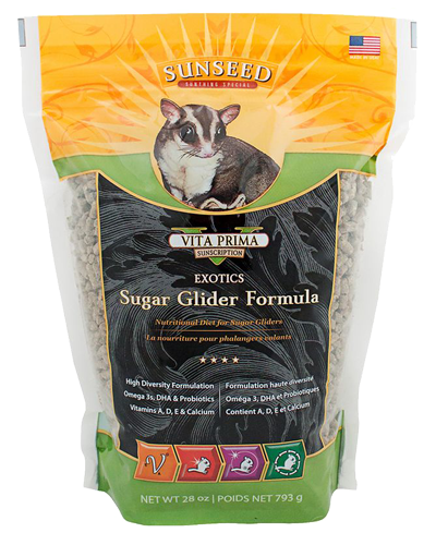 Picture of Sunseed Vita Prima Sunscription Exotics Sugar Glider Formula - 28 oz.