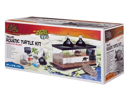 Picture of Zilla Deluxe Aquatic Turtle Kit - 20 Long