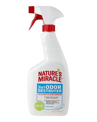 Picture of Nature's Miracle 3 in 1 Odor Destroyer Fresh Linen Scent Spray - 24 oz