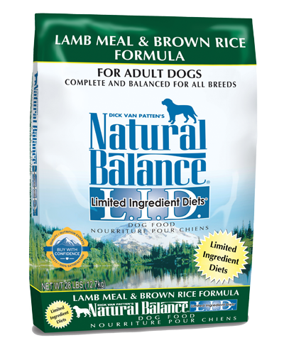 Picture of Natural Balance Limited Ingredient Diet Lamb Meal and Brown Rice Formula - 28 lb.