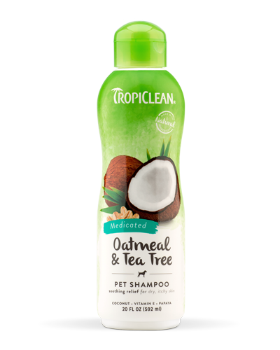 Picture of Tropiclean Oatmeal & Tea Tree Medicated Itch Relief Shampoo - 20 oz