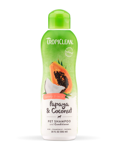 Picture of Tropiclean Papaya & Coconut Luxury 2-in-1 Shampoo/Conditioner - 20 oz