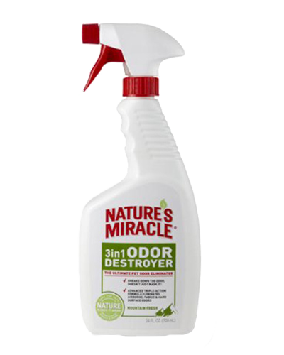 Picture of Nature's Miracle 3 in 1 Odor Destroyer Mountain Fresh Scent Spray - 24 oz