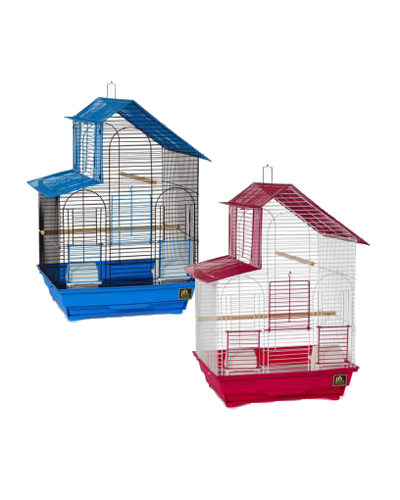 Picture of Prevue Parakeet House Top Roof Cage - Assorted Colors