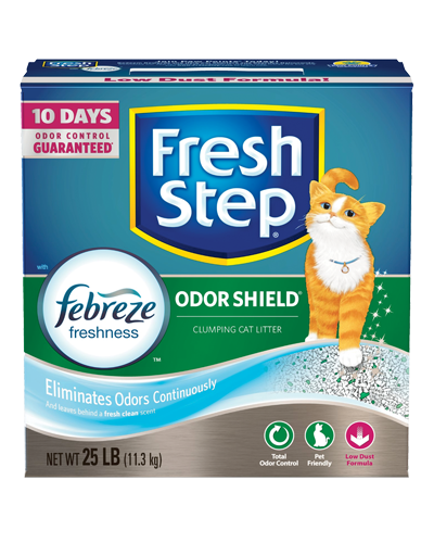 Picture of Fresh Step Odor Shield Scented Litter with the Power of Febreze - 25 lb.