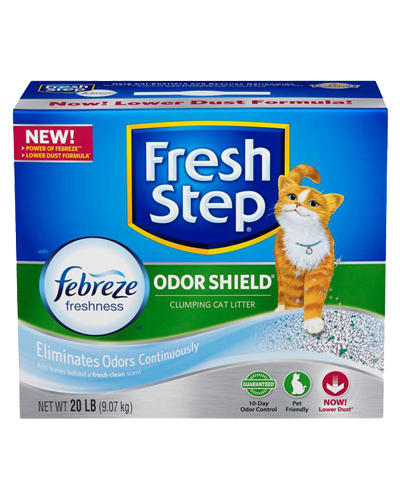 Picture of Fresh Step Odor Shield Scented Litter with the Power of Febreze - 20 lb.