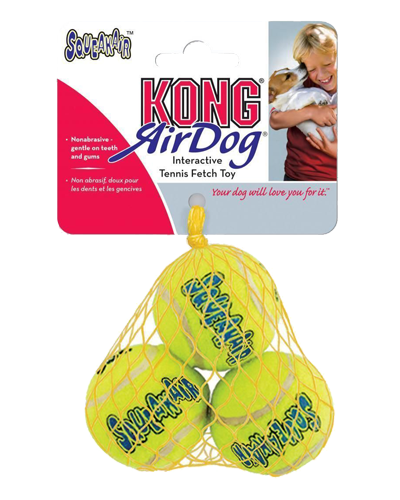 "Picture of KONG Extra Small SqueakAIR Tennis Balls 3 Pack - 1.5"" each"