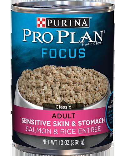 Picture of Purina Pro Plan Focus Adult Sensitive Skin & Stomach Salmon & Rice Entrée - 13 oz.